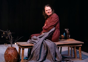 Linda Reiter in Victory Garden's production of THE TESTAMENT OF MARY by Colm Tóibín. Photo by Michael Courier.