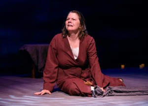 Linda Reiter stars in Victory Garden's production of THE TESTAMENT OF MARY by Colm Tóibín - photo by Michael Courier.