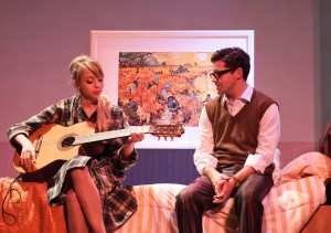 Monique Hafen and Jeffrey Brian Adams in San Francisco Playhouse's production of PROMISES, PROMISES. Photo by Jessica Palopoli.