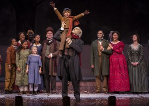 The cast of Goodman Theatre's A CHRISTMAS CAROL. Photo by Liz Lauren.
