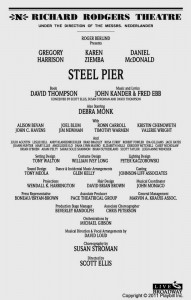 Steel Pier - original playbill interior
