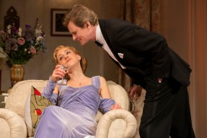 """Charlotte Parry and Charles Edwards in the North American tour of Noël Coward's """"Blithe Spirit."""""""