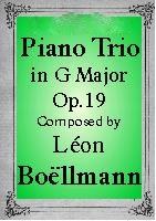 Boellman Piano Trio in G major Op. 19 sheet music