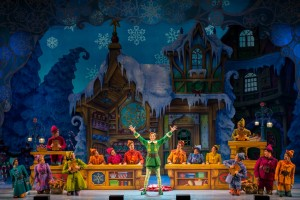 Buddy (Eric Williams) and the company of ELF THE MUSICAL. Photo by Amy Boyle.