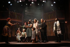 Cast of SOUL DOCTOR with Dan'yelle Williamson and Josh Nelson (both front). Photo by Carol Rosegg.