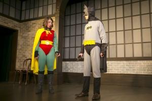 Chelsea Devantez and John Hartman in Second City's PANIC ON CLOUD 9. Photo by TODD ROSENBERG.