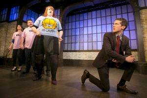 Christine Tawfik, Paul Jurewicz, Emily Walker and John Hartman in Second City's PANIC ON CLOUD 9. Photo by TODD ROSENBERG.