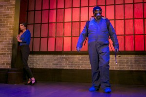 Christine Tawfik and Paul Jurewicz in Second City's PANIC ON CLOUD 9 - photo by TODD ROSENBERG.