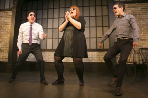 Daniel Strauss, Emily Walker and John Hartman in Second City's PANIC ON CLOUD 9. Photo by TODD ROSENBERG.
