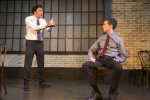 Daniel Strauss and John Hartman in Second City's PANIC ON CLOUD 9. Photo by TODD ROSENBERG.