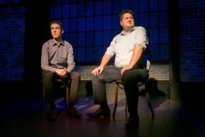 John Hartman and Paul Jurewicz in Second City's PANIC ON CLOUD 9. Photo by TODD ROSENBERG.