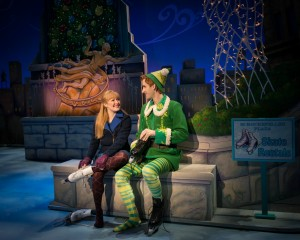 Jovie (Maggie Anderson) and Buddy (Eric Williams) in ELF THE MUSICAL. Photo by Amy Boyle.