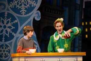 Michael (Tyler Altomari) and Buddy (Eric Williams) in ELF THE MUSICAL. Photo by Amy Boyle.