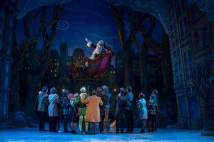 Santa (Ken Clement) and the Company in ELF THE MUSICAL. Photo by Amy Boyle.