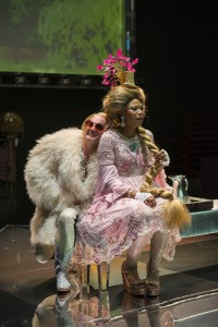 Alan Wilder (Sheep) and Alana Arenas (Marie Antoinette) in Steppenwolf Theatre Company's production of Marie Antoinette