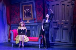 Alice (Cory Goodrich, left) and Morticia (Rebecca Prescott)