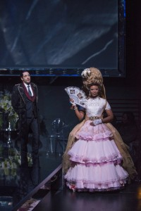 Ariel Shafir (Axel Fersen) and ensemble member Alana Arenas (Marie Antoinette) in Steppenwolf Theatre Company's production of Marie Antoinette