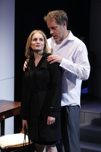 Larisa Polonsky and Rufus Collins in THE ROAD TO DAMASCUS. Photo by Carol Rosegg