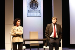 Liza Vann and Joseph Adams in THE ROAD TO DAMASCUS. Photo by Carol Rosegg