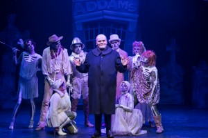 Harter Clingman plays Uncle Fester, surrounded by the Ancestors