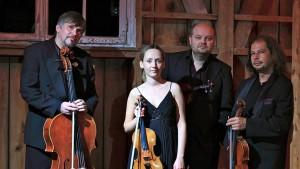 Szymanowski Quartet. Grzegorz Kotow, Agata Szymczewska, Marcin Sieniawski and Volodia Mykytka.