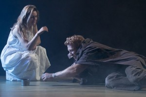 Zoe Perry and Kevin McKidd in ANNA CHRISTIE. Photo by Diego Barajas.