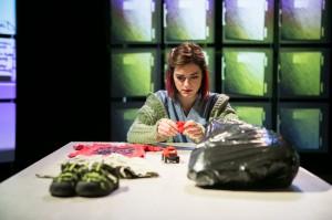 Abby Pierce in Cold Basement Dramatics' production of HEAT WAVE. Photo by Anna Sodziak.