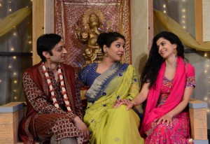 Kaiser Ahmed, Alka Nayyar and Suzan Faycurry star in Rasaka Theatre's A Nice Indian Boy at Victory Gardens Theater