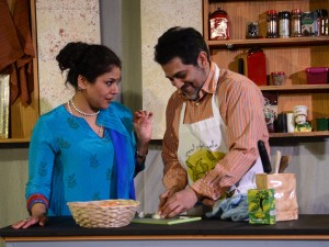 Alka Nayyar and Kamal J. Hans star in Rasaka Theatre's A Nice Indian Boy at Victory Gardens Theater