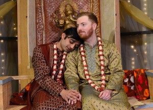 Kaiser Ahmed and Riley McIlveen star in Rasaka Theatre's A Nice Indian Boy at Victory Gardens Theater