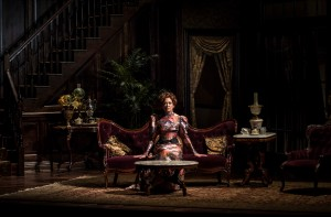 Shannon Cochran (Regina Giddens) in The Little Foxes by Lillian Hellman, directed by Henry Wishcamper at Goodman Theatre (May 2 – June 7, 2015).