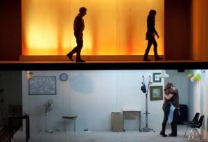 Mariano Pensotti's CINEASTAS. Photo by Carlos Furman.