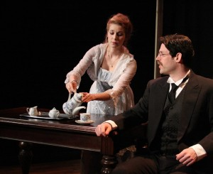 Mary-Kate Arnold (Emma Jung) and Patrick Doolin (Carl Jung)