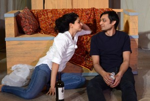 Suzan Faycurry and Kaiser Ahmed star in Rasaka Theatre's A Nice Indian Boy at Victory Gardens Theater