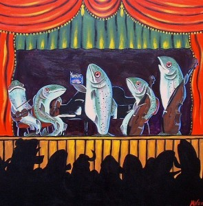Trout-Quintet-painting by Melissa Wotherspoon