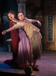 Caron Buinis and Matt Crowle in A FUNNY THING HAPPENED ON THE WAY TO THE FORUM.