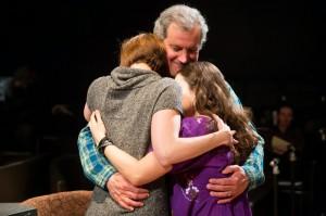 Keith Kupferer as Arthur Stein, with Tina Gluschenko and Sari Sanchez as Sylvia and Rachel Stein in END DAYS.