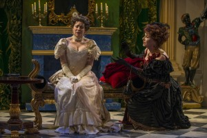 L-R Megan Delay and Joanna Riopelle in Lady Windermere's Fan. Photo by Michael Brosilow