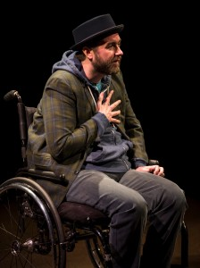 Michael Patrick Thornton in TITLE AND DEED at Lookingglass Theatre. Photo by Liz Lauren.
