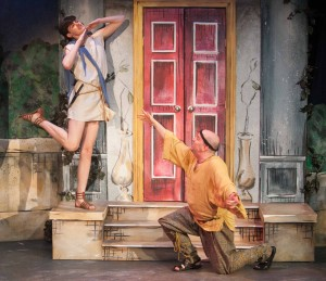 Miles Blum and Bill Larkin in A FUNNY THING HAPPENED ON THE WAY TO THE FORUM.