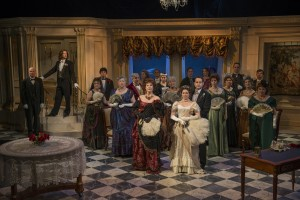 Pictured-the cast of Lady Windermere's Fan. Photo by Michael Brosilow.