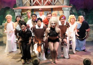 The cast of A FUNNY THING HAPPENED ON THE WAY TO THE FORUM.
