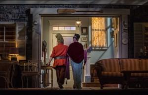 Ross Lehman (Vanya) and Janet Ulrich Brooks (Sonia) in Vanya and Sonia and Masha and Spike by Christopher Durang, directed by Steve Scott at Goodman Theatre.
