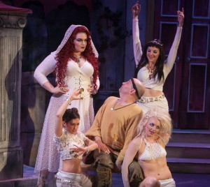 (center) Bill Larkin, (clockwise around Larkin), Erica Evans, Britt-Marie Sivertsen, Ariana Cappuccitti and Nella Barron