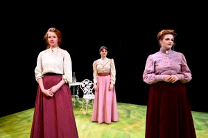 Lindsey Gavel, Hilary Williams and Mary Williamson in The Hypocrites' production of THREE SISTERS by Anton Chekhov, directed by Geoff Button. Photo by Evan Hanover.