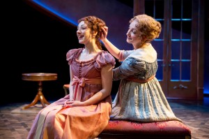 Megan McGinnis and Sharon Rietkerk in SENSE AND SENSIBILITY at Chicago Shakespeare Theater. Photo by Liz Lauren.