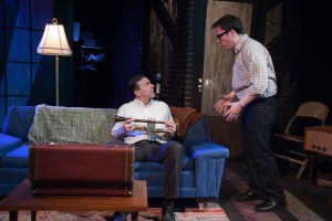 Michael Ehlers and Michael Mahler in American Blues Theater's SIDE MAN. Photo by Johnny Knight.