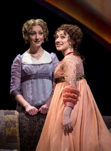 Sharon Rietkerk and Megan McGinnis in SENSE AND SENSIBILITY at Chicago Shakespeare Theater. Photo by Liz Lauren.