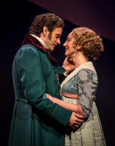 Wayne Wilcox and Sharon Rietkerk in SENSE AND SENSIBILITY at Chicago Shakespeare Theater. Photo by Liz Lauren.