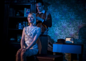 Eve Burley and Oliver Devoti in Anthony Burgess' One Hand Clapping. Photo by Emma Phillipson.